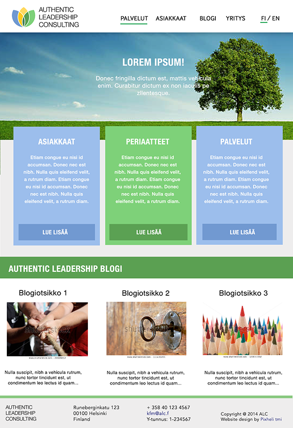 ALC website layout image